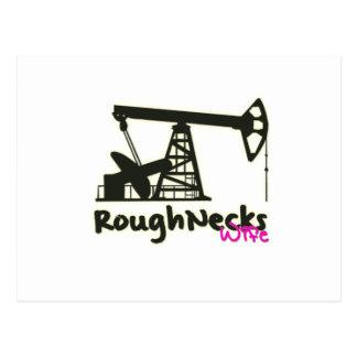 Oilfield Roughnecks Wife Post Card