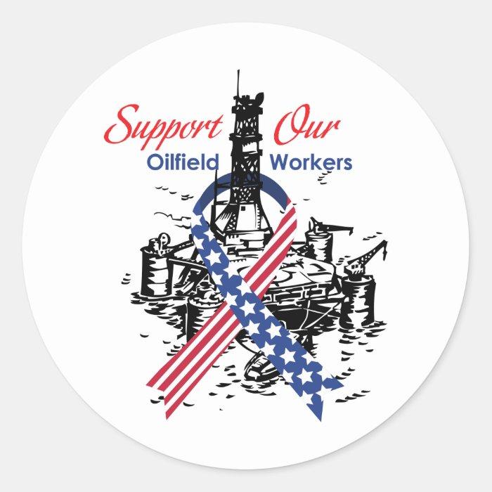 oilfield_support classic round sticker