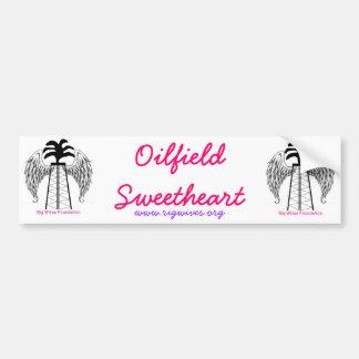 Oilfield Sweetheart Car Bumper Sticker