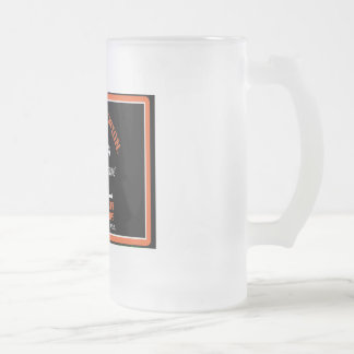 OILFIELD TRASH FROSTED GLASS BEER MUG