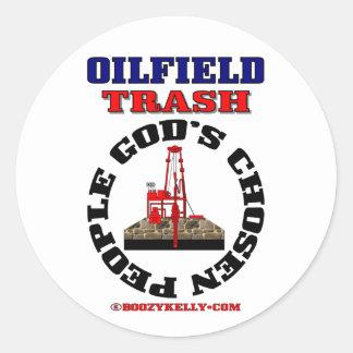 Oilfield Trash God's Chosen People,Sticker,Oil Classic Round Sticker