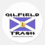 Oilfield Trash, Scottish, Sticker, Oil,