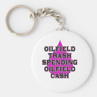 Oilfield Trash Spending Oilfield Cash Basic Round Button Keychain