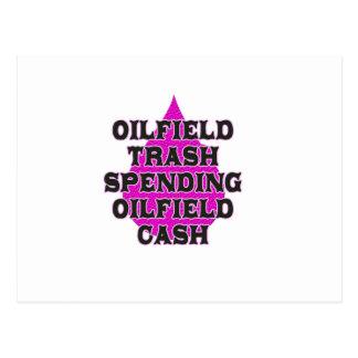 Oilfield Trash Spending Oilfield Cash Post Cards