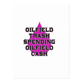 Oilfield Trash Spending Oilfield Cash Post Card