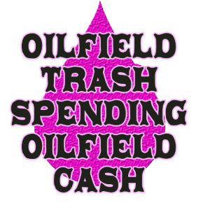 oilfield trash spending oilfield cash square sticker