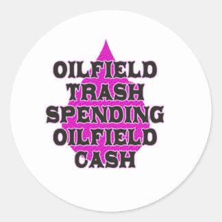 Oilfield Trash Spending Oilfield Cash Classic Round Sticker