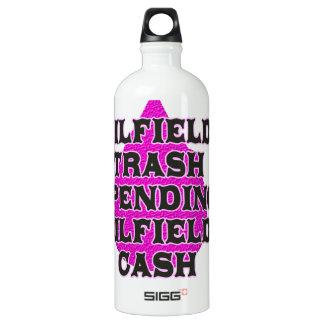 Oilfield Trash Spending Oilfield Cash Water Bottle