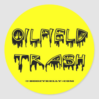 Oilfield Trash Zed pp1 use A4 using Classic Round Sticker