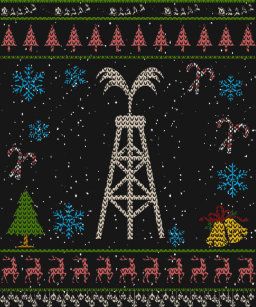 oilfield wife christmas ugly shirt oil worker