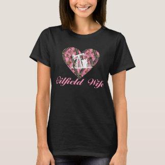 Oilfield Wife in Camo T-Shirt