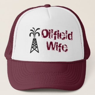 Oilfield Wife Trucker Hat Burgandy