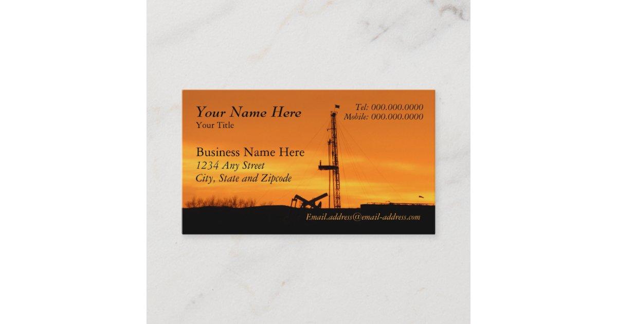 Oilfield Workover Rig Business Card | Zazzle.com