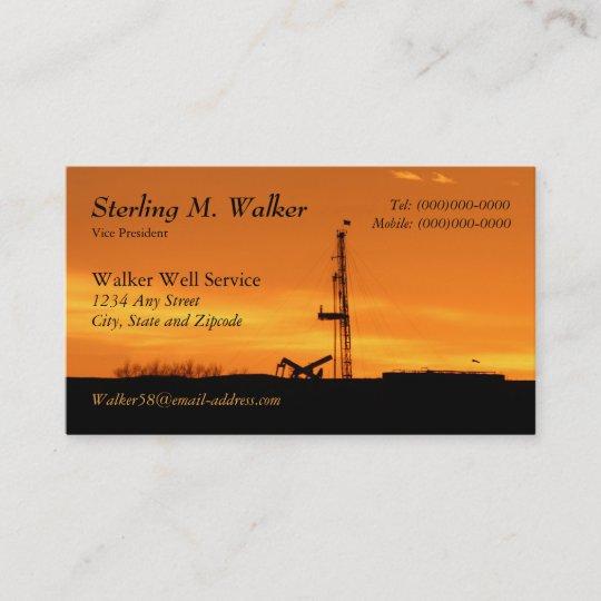 Oilfield workover service rig silhouette business card zazzle oilfield workover service rig silhouette business card reheart Image collections