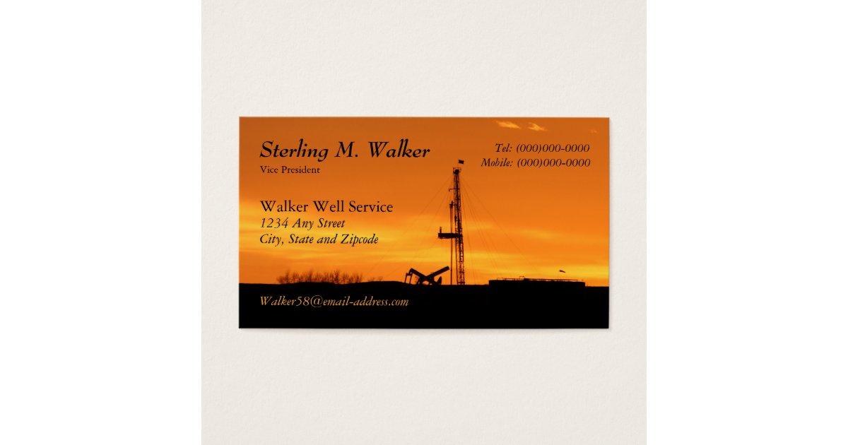 Oilfield Workover Service Rig Silhouette Business Card | Zazzle.com