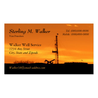 Oilfield Workover Service Rig Silhouette Double-Sided Standard Business Cards (Pack Of 100)