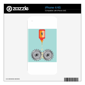 Oiling Gears Vector Decal For The iPhone 4S