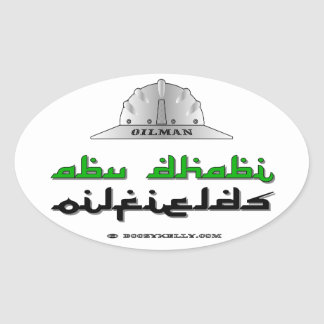 Oilman,Abu Dhabi Oil Fields,Expat,Oil,Gas,Rigs Oval Stickers