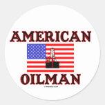 Oilman americano, pegatina del campo petrolífero,