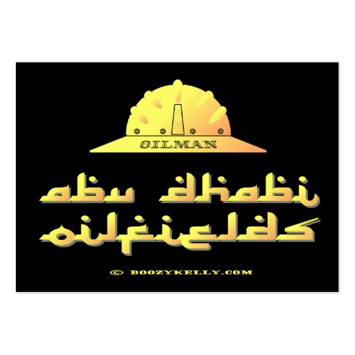 Oilman, campos petrolíferos de Abu Dhabi, UAE, emi Tarjetas De Visita