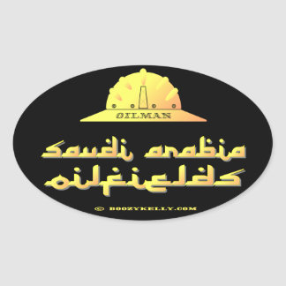 Oilman, campos petrolíferos de la Arabia Saudita, Calcomanía De Óval