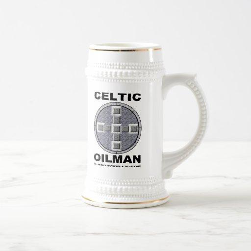Oilman céltico, cerveza Stein Taza De Café