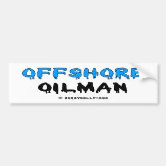 Oilman costero, pegatina para el parachoques, acei pegatina para auto