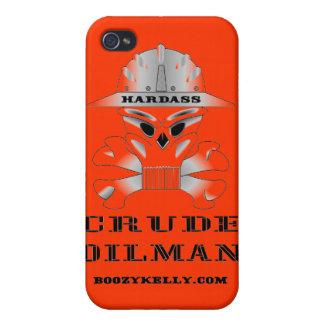 Oilman crudo de Hardass, iPhone, caja de la mota,  iPhone 4 Protector