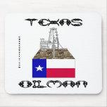 Oilman de Tejas, campo petrolífero Mousepad, aceit Tapetes De Raton