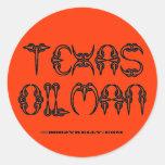 Oilman de Tejas, pegatina del campo petrolífero,