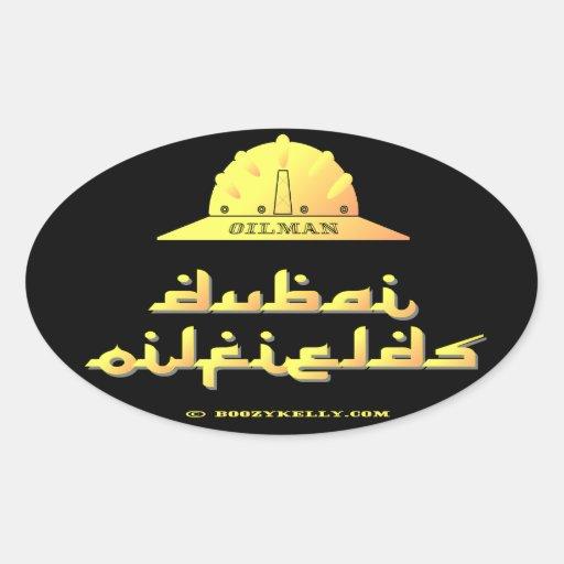 Oilman,Dubai Oil Fields,UAE,Oil,Gas,Rigs,Gift Oval Stickers