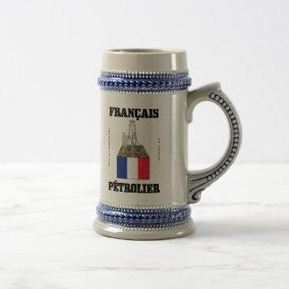 Oilman francés taza de cerveza aceite gas rega