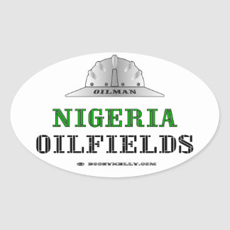 Oilman,Nigeria Oil Fields,International Oilman,Oil Oval Sticker