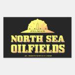 Oilman North Sea Oil Fields,Derrickman,Oil,Rigs Rectangular Sticker