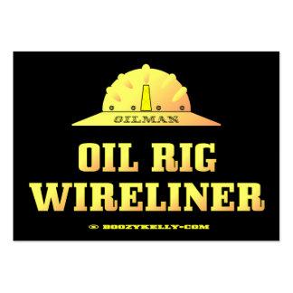 Oilman, plataforma petrolera Wireliner, tarjetas d Plantilla De Tarjeta De Negocio
