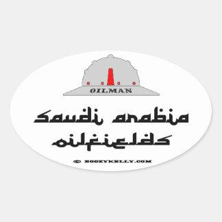 Oilman,Saudia Arabia Oilfields,Petroleum,Oil,Rig Oval Sticker