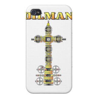 Oilman servicios bien manantial caja de la mota iPhone 4 cárcasas