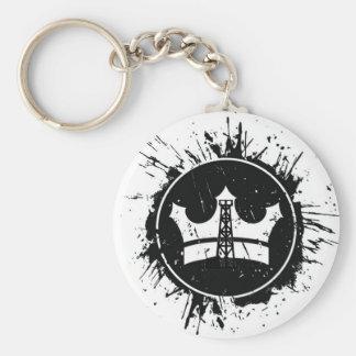 OilRig King Basic Round Button Keychain