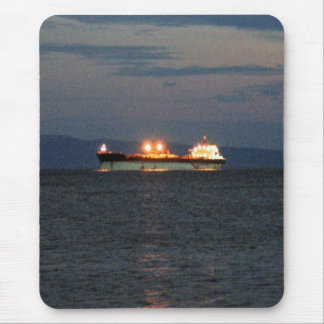 oiltanker on the mediteranean sea mouse pad