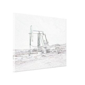 Oilwell Pumping (pump jack) Unit Canvas Print