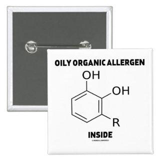 Oily Organic Allergen Inside (Urushiol Molecule) Button