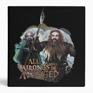 Oin and Gloin 3 Ring Binder