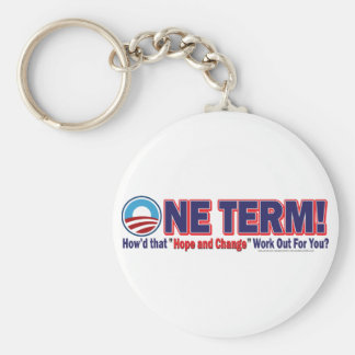 OIne Term - How'd that Hope and Change Work Out Keychain