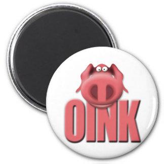 oink 2 inch round magnet