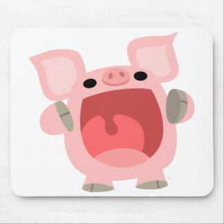 """OINK!!!"" Cerdo lindo Mousepad del dibujo animado Tapetes De Raton"