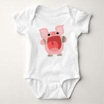 """OINK!!!"" Cute Cartoon Pig Baby Apparel Baby Bodysuit"