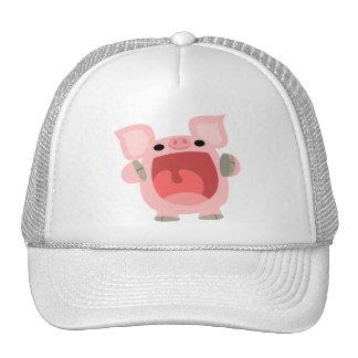 """OINK!!!"" Cute Cartoon Pig Hat"
