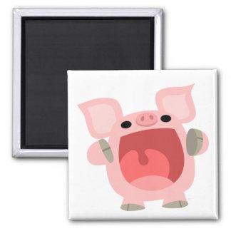 """OINK!!!"" Cute Cartoon Pig Magnet"