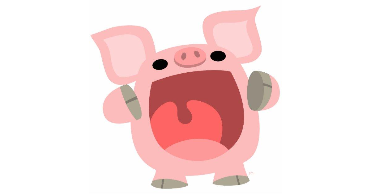 Oink cute cartoon pig photo sculpture - Pig wallpaper cartoon pig ...