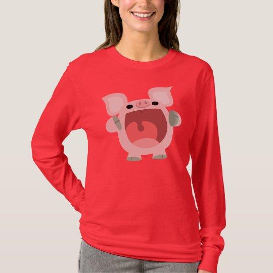 """""""OINK!!!"""" Cute Cartoon Pig Women T-shirt"""